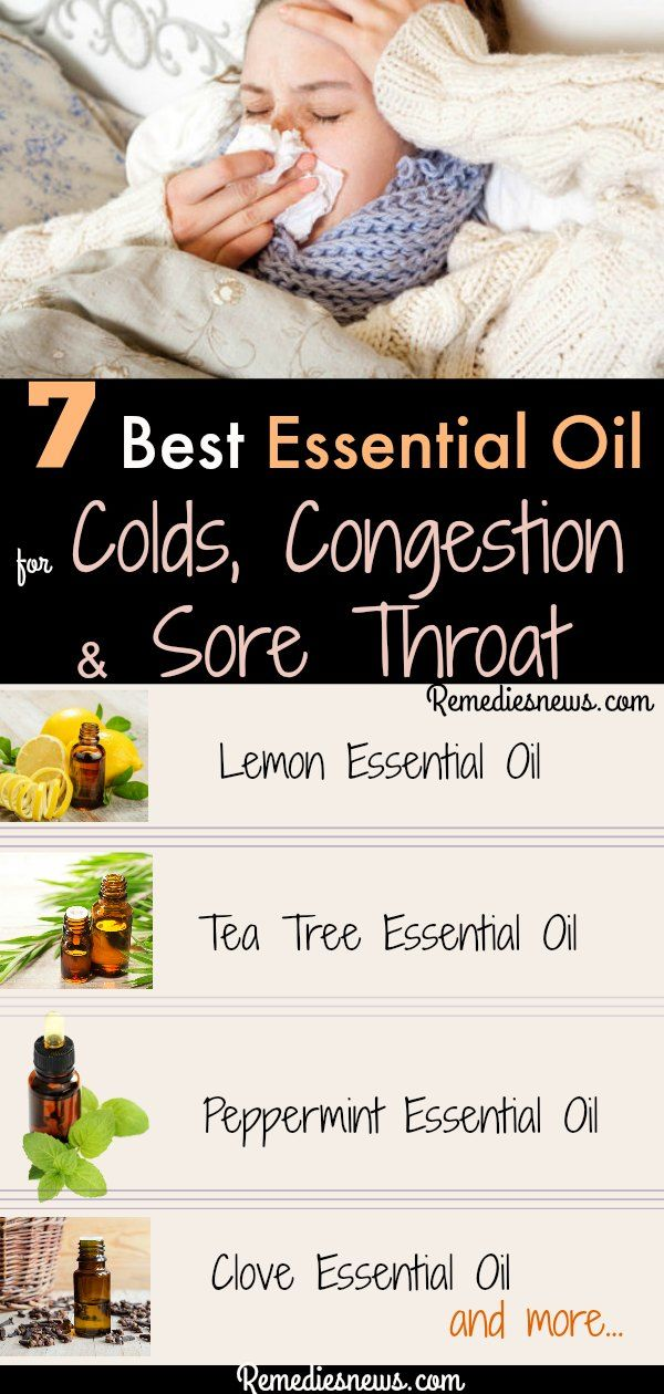Best Essential Oil for Colds, Congestion and Sore Throat Remedies