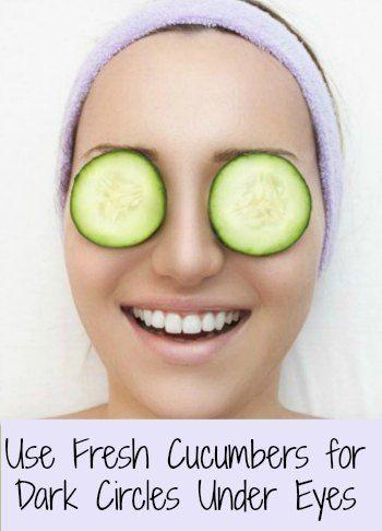 Cucumbers on eyes dark circle