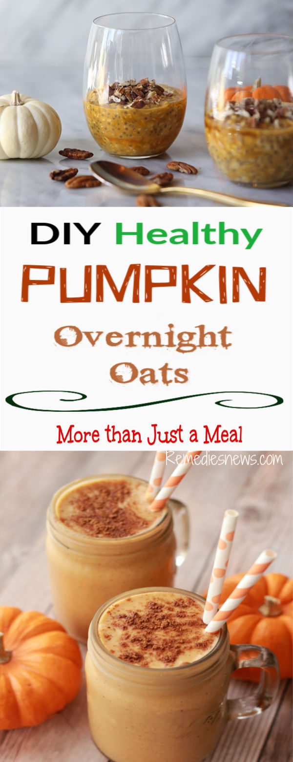 Easy Healthy Pumpkin Overnight Oats.Try Easy Pumpkin pie overnight oats skinnytaste.1/2 tsp pumpkin pie spice. 1 teaspoonful (tsp) of chia seeds. cup of non-fat Greek yogurt