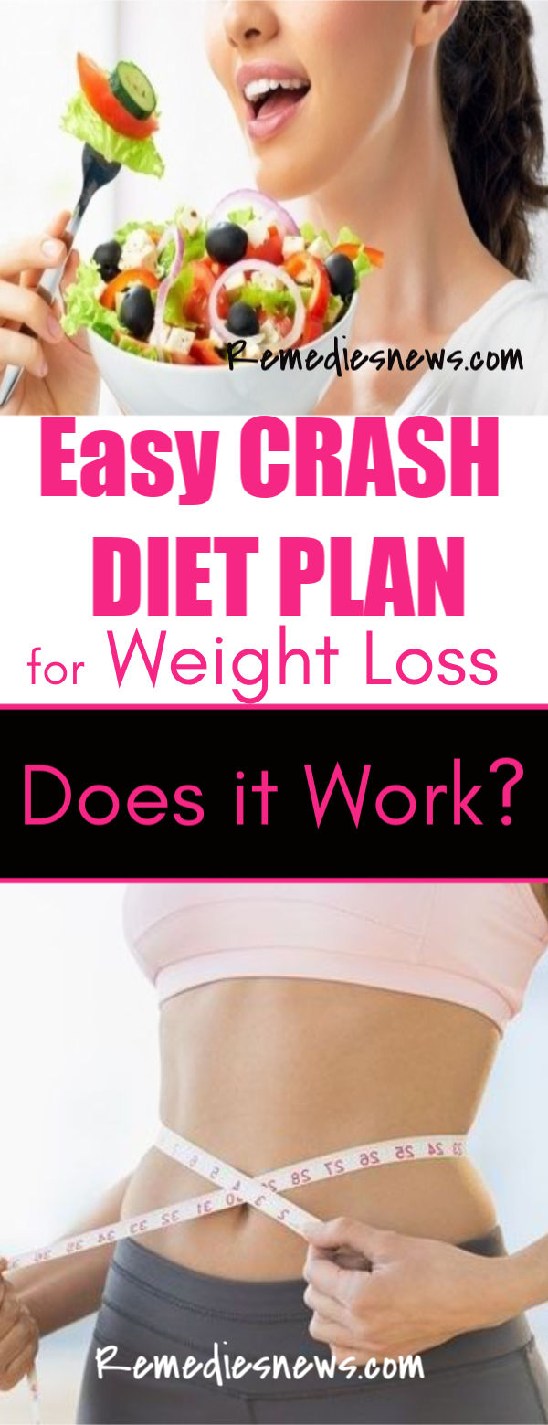 Easy Crash Diet Plan for Weight Loss - Does it Work?