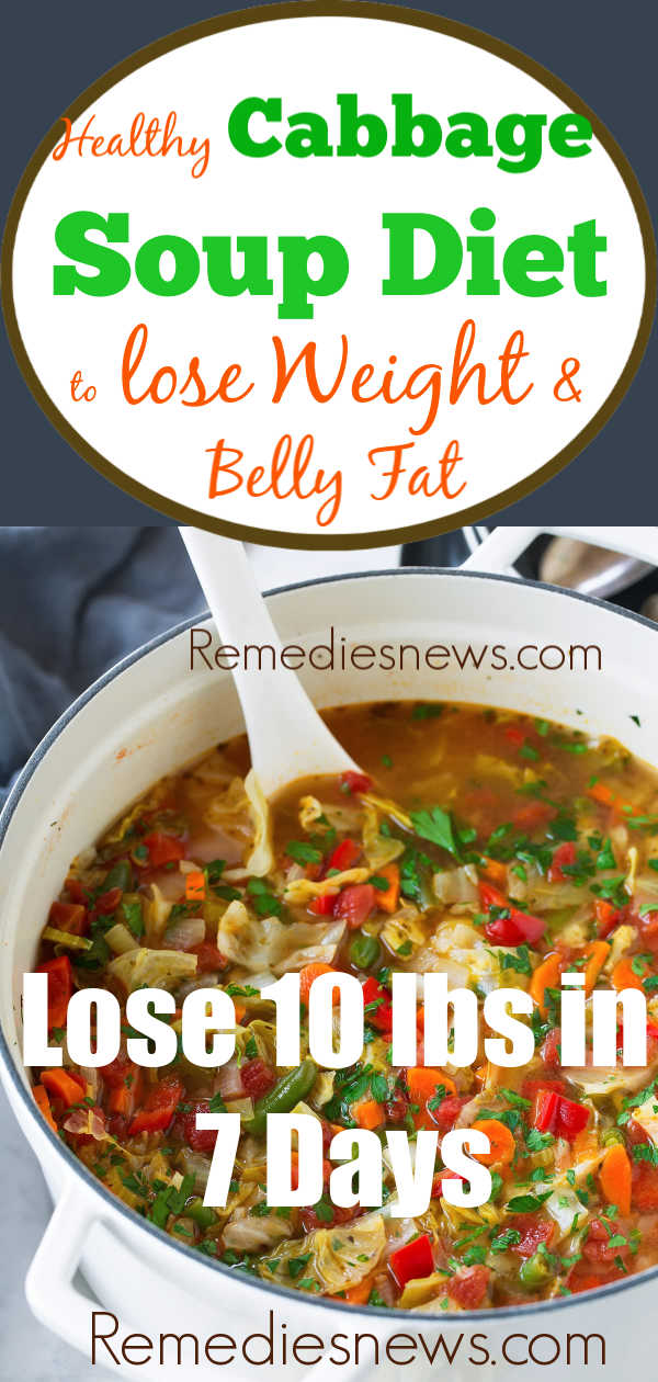 Easy Cabbage Soup Diet Recipes for Weight Loss - Lose 10 lbs in 7 Days