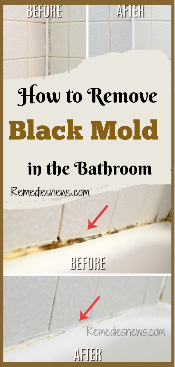 how to remove black mold in the bathroom