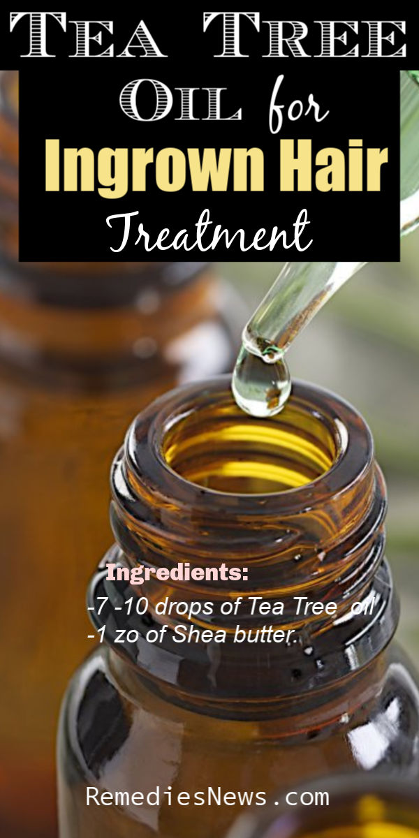 Tea Tree Ingrown Hair Essential oil Recipes