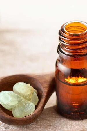 Essential oil on our list of remedies to get rid of pimples overnight.