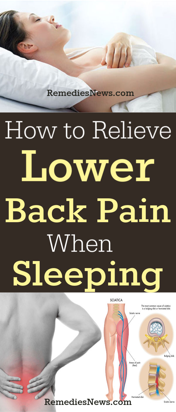 How to Relieve Lower Back Pain While Sleeping: 7 Best Natural Treatment