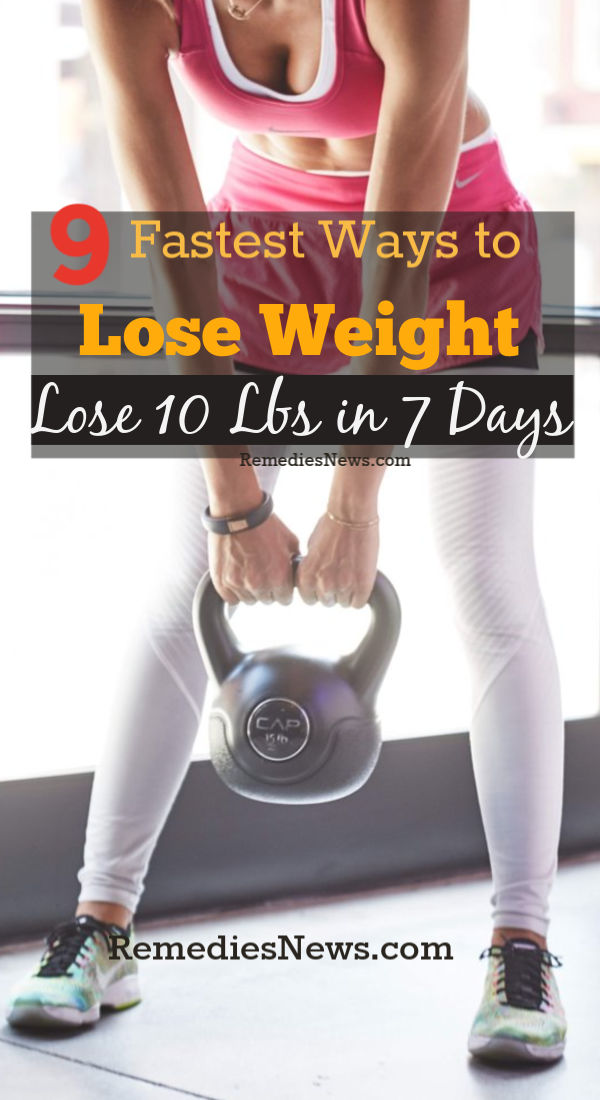 9 Fastest Ways to Lose Weight with Exercises - Lose 10 Pounds in 7 Days