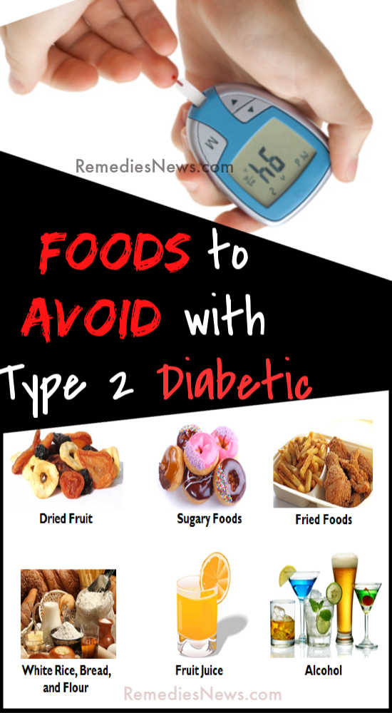 List of Food to Avoid with Type 2 Diabetic
