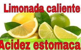 Limonada caliente para acidez