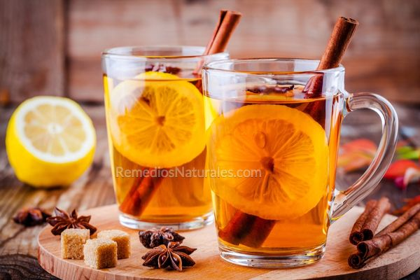 chá de limão e canela
