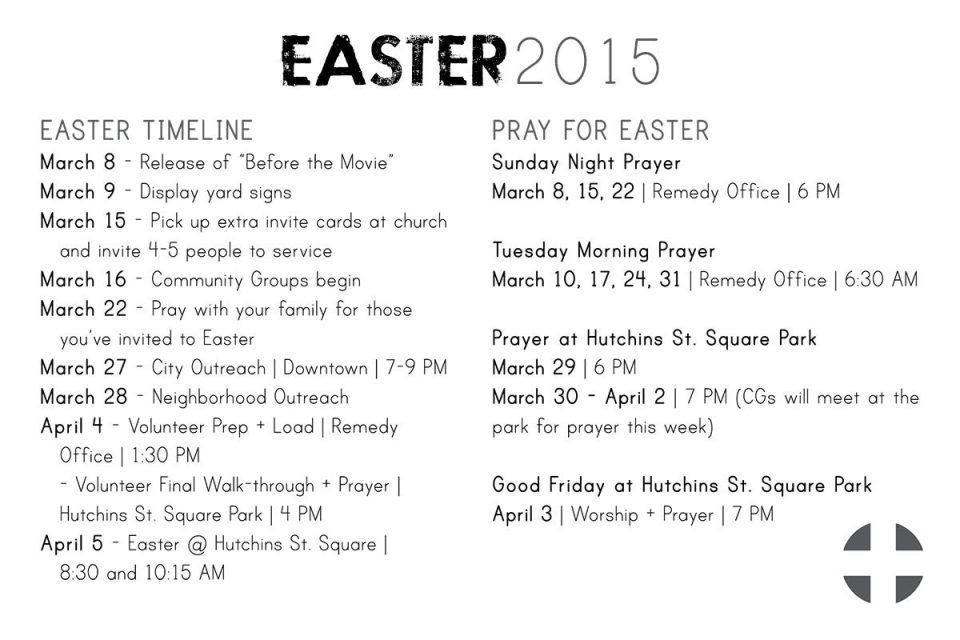 Easter Schedule smaller