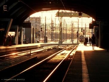Sunlight in Zürich station