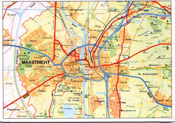Maastricht Netherlands Map Remembering Letters and