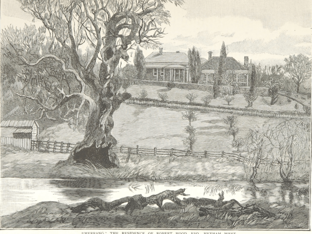 """Merrang"" The Residence of Robert Hood, Esq., Hexham West"