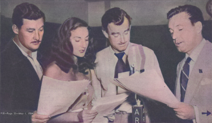 Harp McGuire, Mary-Jane Windsor, Max Osbiston and Charles Tingwell in The Dambusters