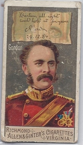Richmond Cigarette Card, from the author's private collection.