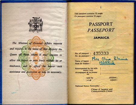 passport first page