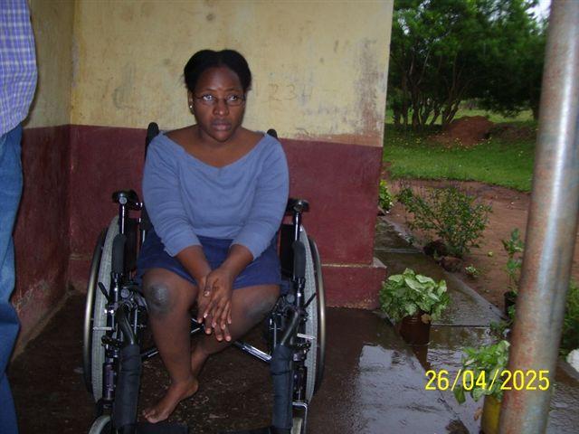 Juliette in her new wheelchair