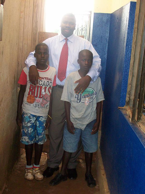 Ivan and Kennedy with John Mugabi--2007