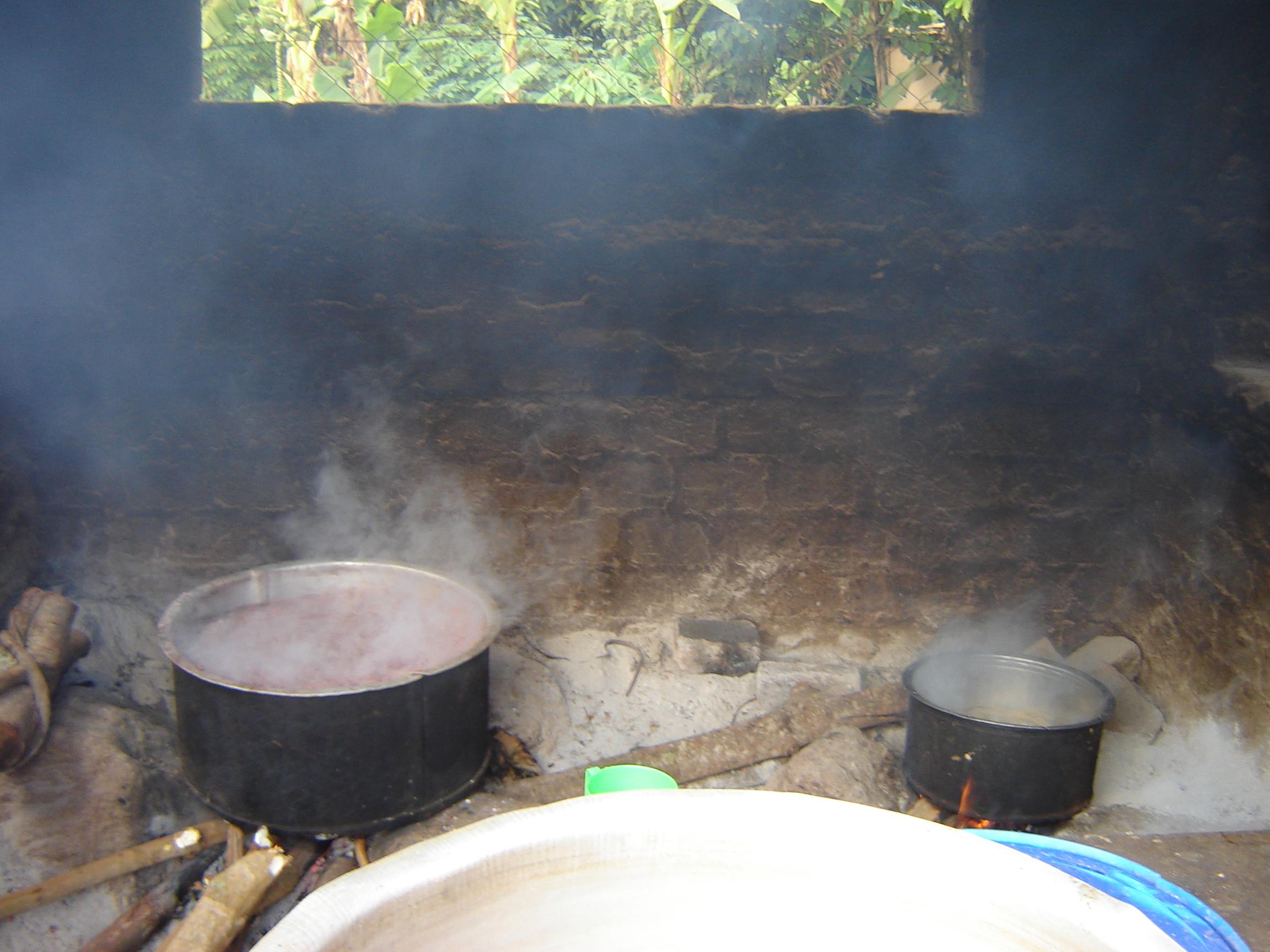 The current Nkumba kitchen