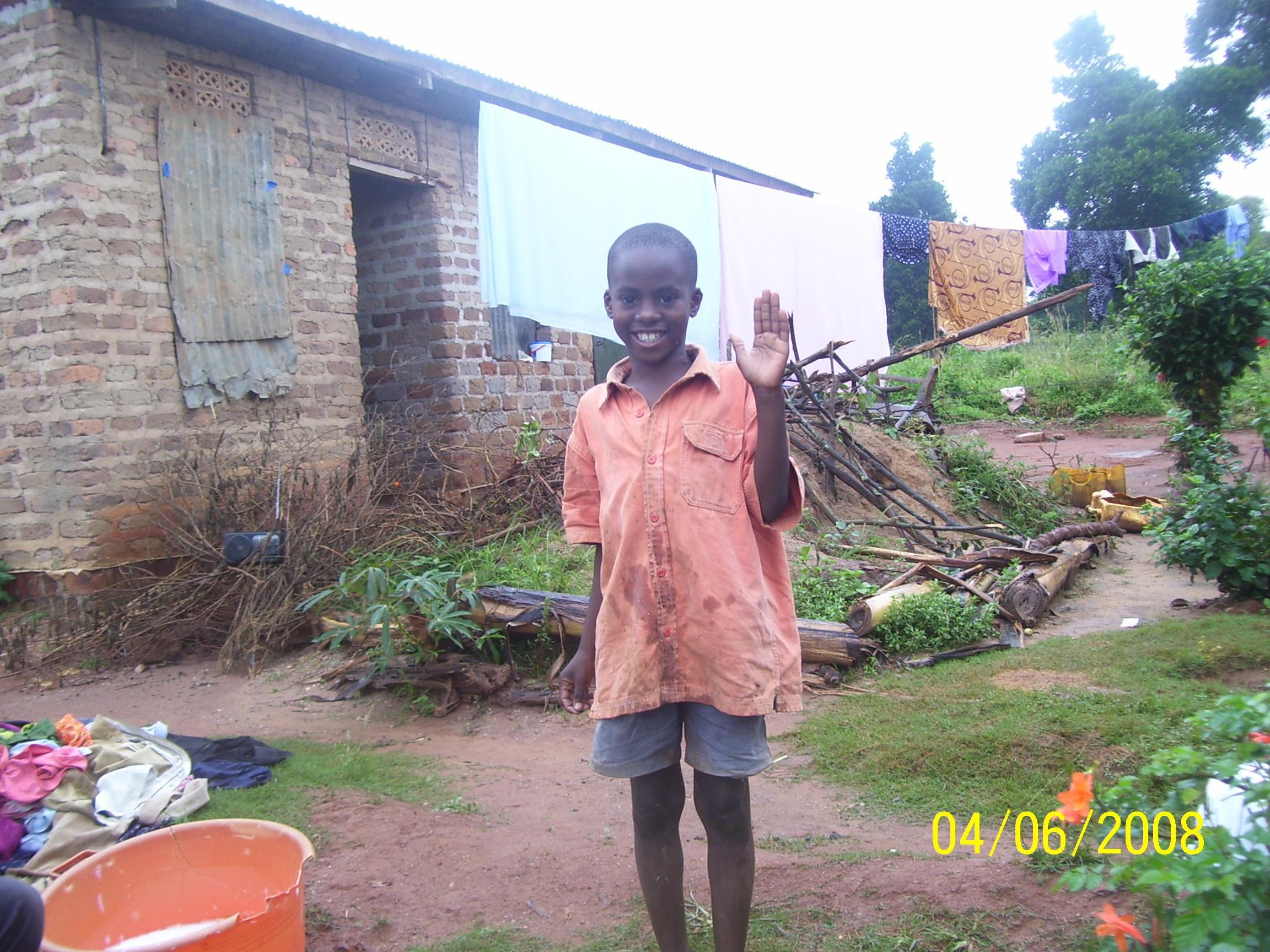 Miro Jovan, one of the sponsored children
