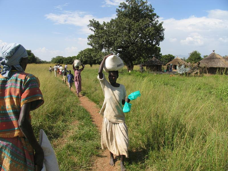 carrying the maize flour