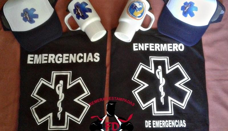 Remeras, tazas y gorras para Emergencias personalizadas