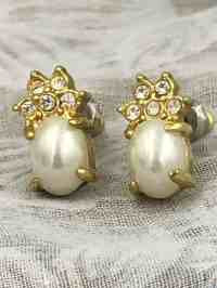 Pineapple Pearl Crystal Earrings - Fashion Jewelry