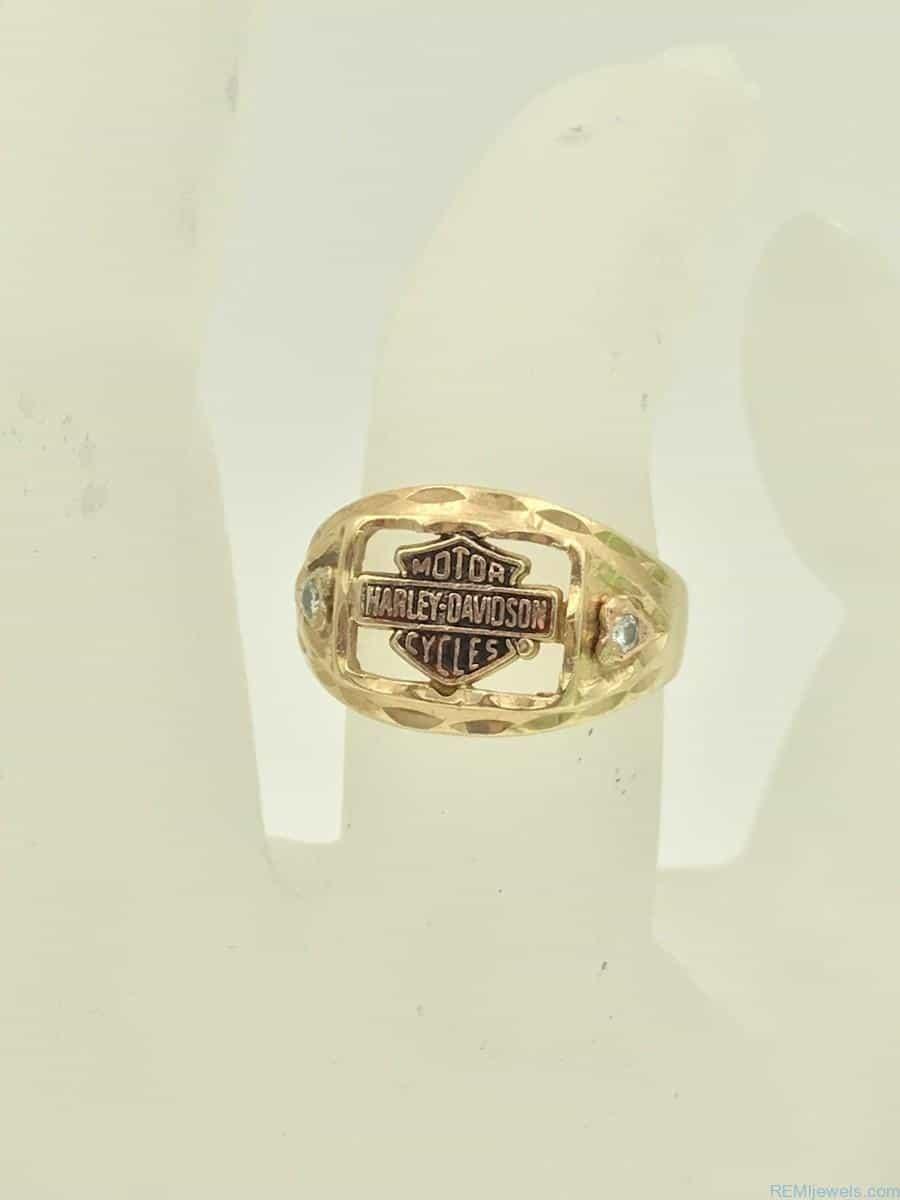 Harley Davidson Diamond Ring : harley, davidson, diamond, Yellow, Harley, Davidson, Stamper, Diamond