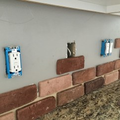 Brick Backsplash In Kitchen Electric Stove Do It Yourself Veneer Remington Avenue