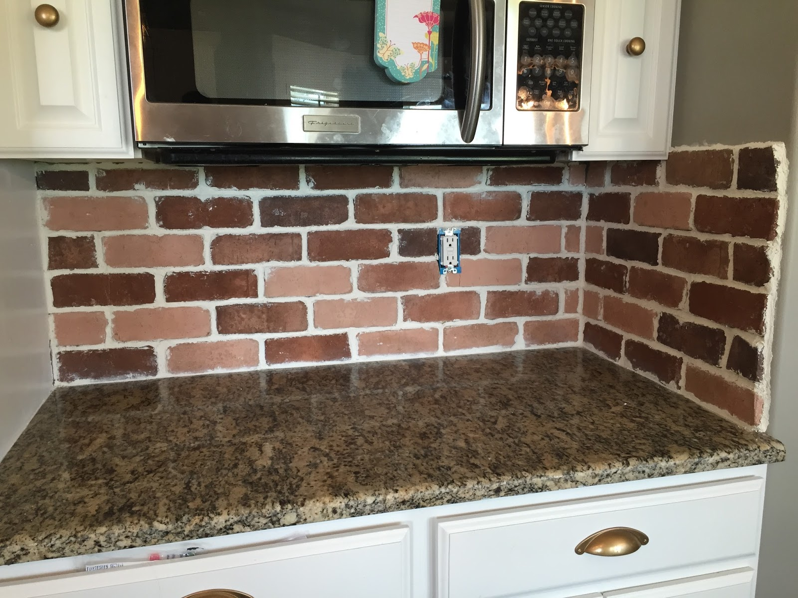 do it yourself brick veneer backsplash