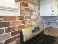 Do-It-Yourself Brick Veneer Backsplash - Remington Avenue