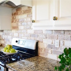 Brick Backsplash In Kitchen Unclog Sink Drain Do It Yourself Veneer Remington Avenue
