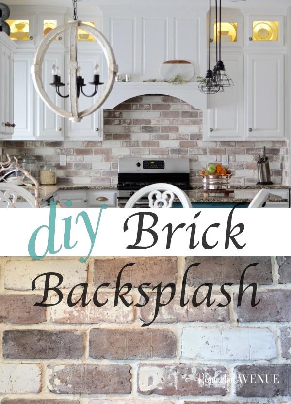 brick kitchen backsplash top corner cabinet do it yourself veneer remington avenue diy tutorial