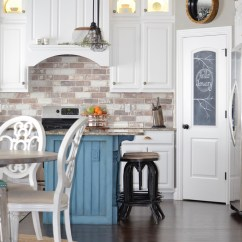 Brick Backsplash In Kitchen Two Tone Table Do It Yourself Veneer Remington Avenue Diy Tutorial Farmhouse
