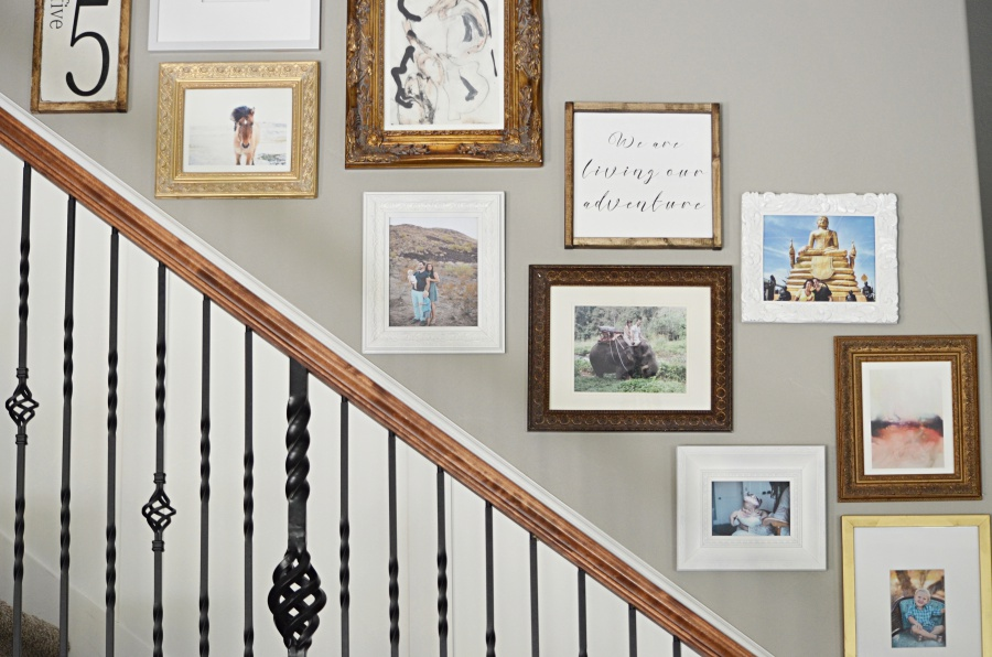 Staircase Gallery Wall Tutorial