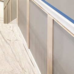Picture Frame Moulding Below Chair Rail Adirondack Rocking Staircase Makeover How To Install Molding Remington Avenue And