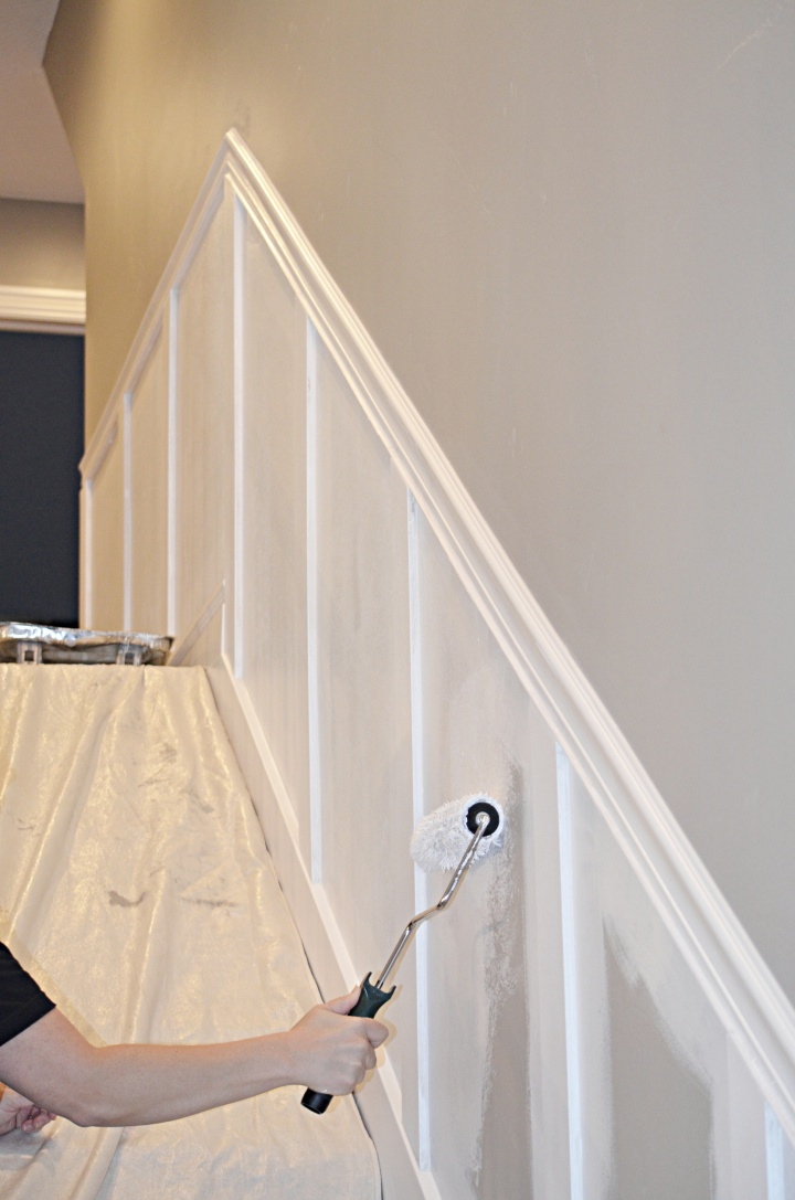 Staircase Makeover: How to Install molding