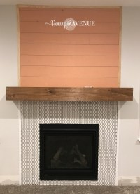 Easy DIY wood mantel - Remington Avenue