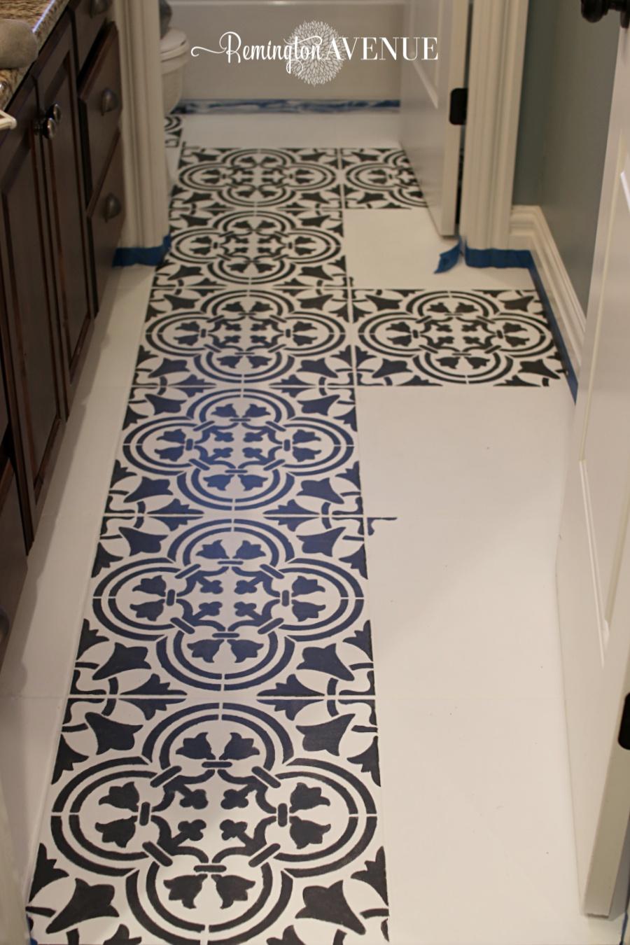 how to paint stencil tile remington