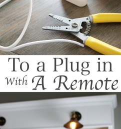 how to convert multiple hard wired light fixtures into a plug in with one switch [ 900 x 2837 Pixel ]