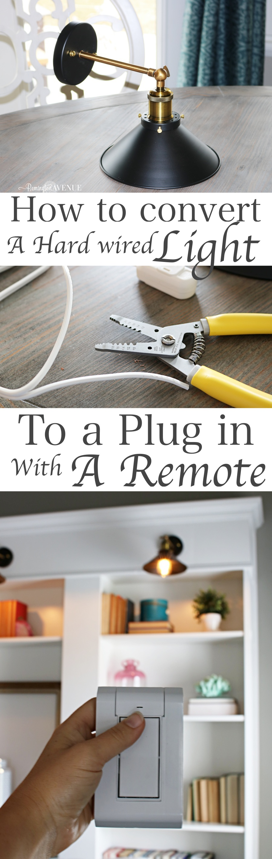 hight resolution of how to convert multiple hard wired light fixtures into a plug in with one switch