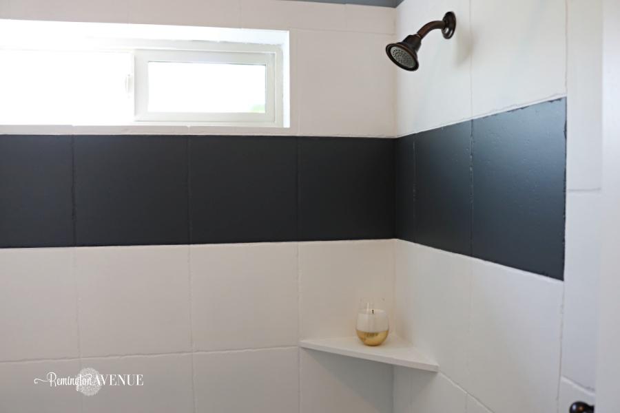 how to paint shower tile - remington avenue