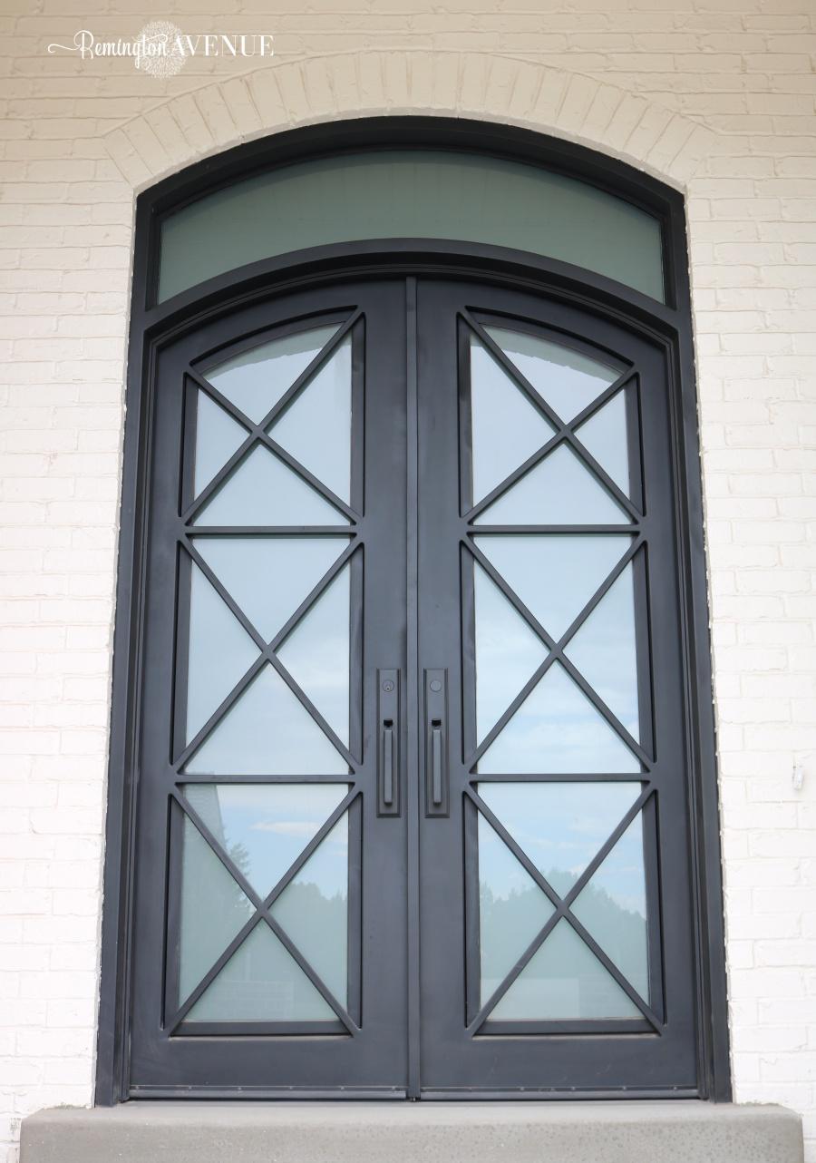 X Detail Steel Front Door Remington Avenue