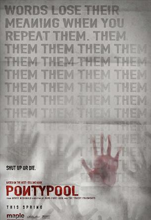Teaser poster for <em>Pontypool</em>.