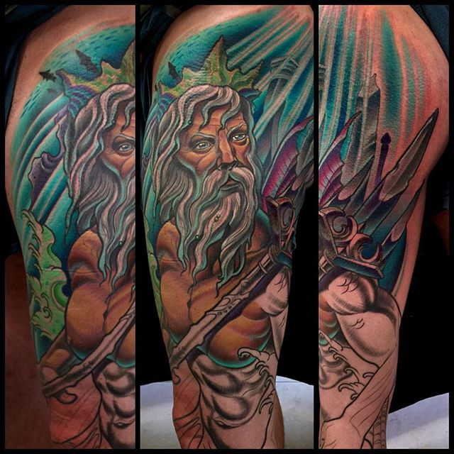 Neptune Tattoo Sleeve