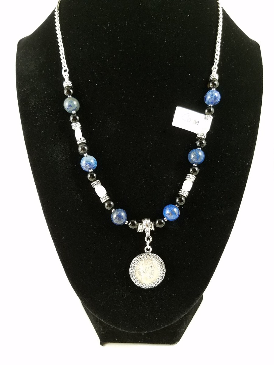 Necklace with Roman silver denarius coin
