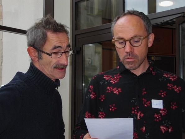 M.Padox, vice président de l'association Gilets Jaunes Vosges 88 et H.Laine, directeur de l'AGACI