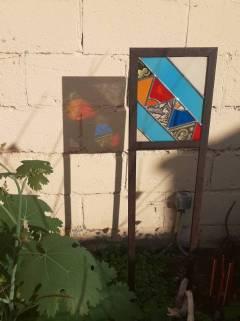Isabelle Debras vitrail jardin