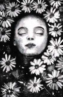 une fleur Helene JOFA graveur céramiste