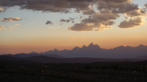 Tetons in the sunset